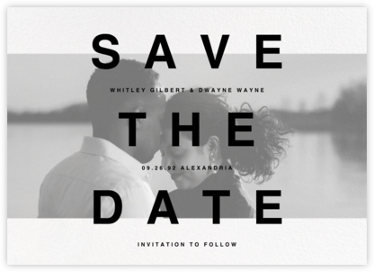 Communiqué (Horizontal) - Paperless Post - Save the dates