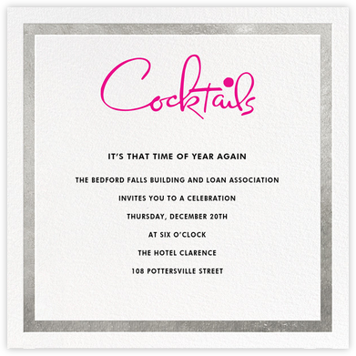 Classic Vintage - Silver/Pink - kate spade new york - Business event invitations
