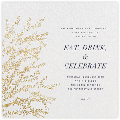 Forsythia - Gold - Paperless Post - Business event invitations