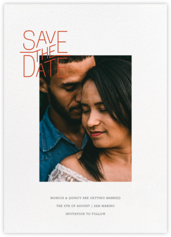 Imprimatur - Paperless Post - Modern save the dates