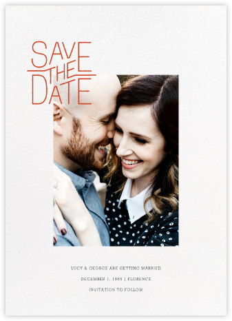 Imprimatur - Paperless Post - Modern save the dates