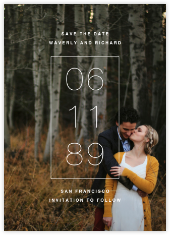 Greenwich (Tall) - Paperless Post - Modern save the dates