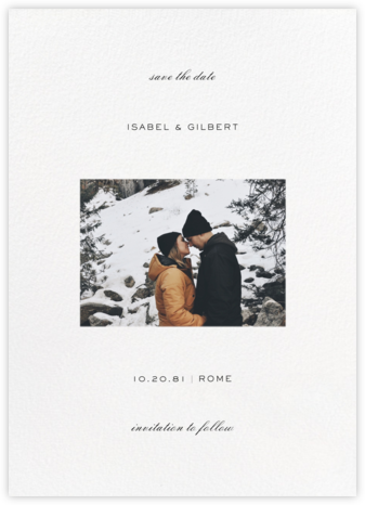 Transom (Tall Landscape) - White - Paperless Post - Save the dates
