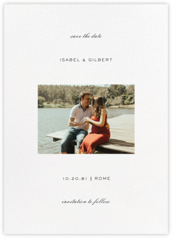 Transom (Tall Landscape) - White - Paperless Post - Modern save the dates