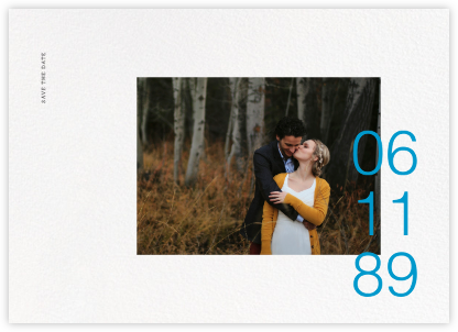 Gregorian (Horizontal) - Paperless Post - Modern save the dates