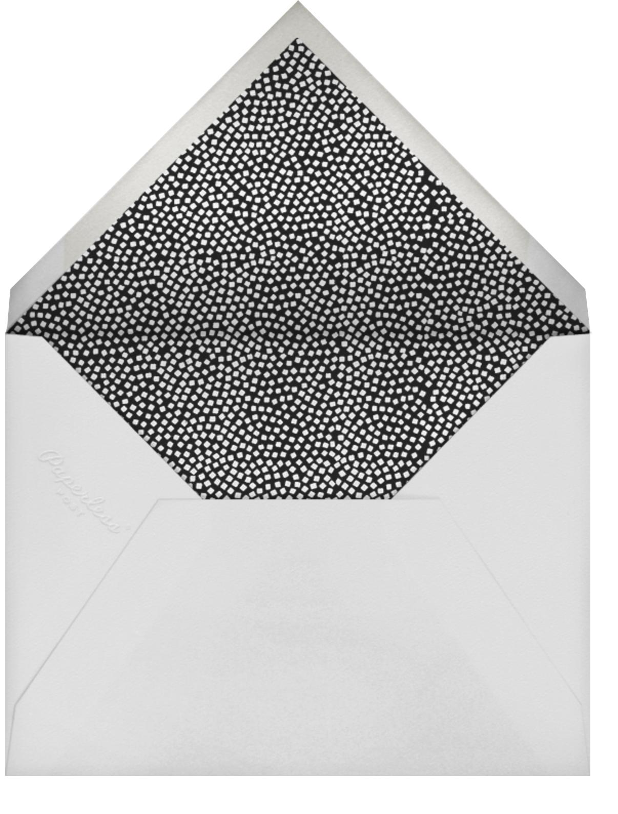 Konfetti - Gold - Kelly Wearstler - Corporate invitations - envelope back