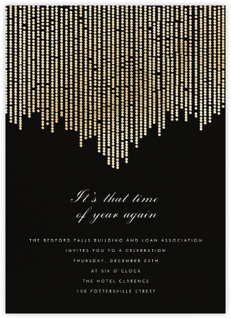 Josephine Baker - Black/Gold - Paperless Post - Business event invitations