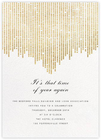 Josephine Baker - White/Gold - Paperless Post - Business Party Invitations