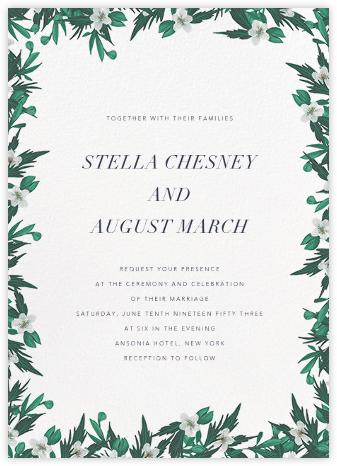 Snowrose Hedge (Invitation) - White - Paperless Post -