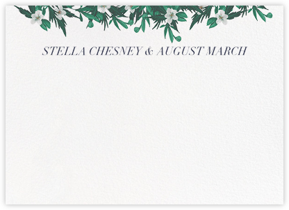 Snowrose Hedge (Stationery) - White - Paperless Post -