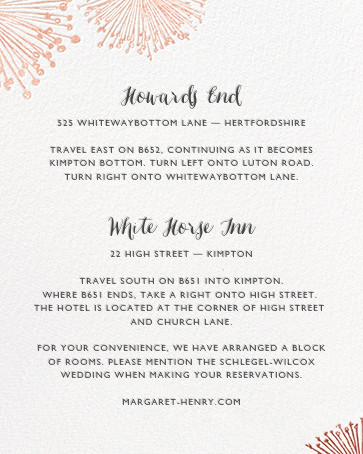 Dandelion (Invitation) - White/Rose Gold - Paperless Post - All - insert front