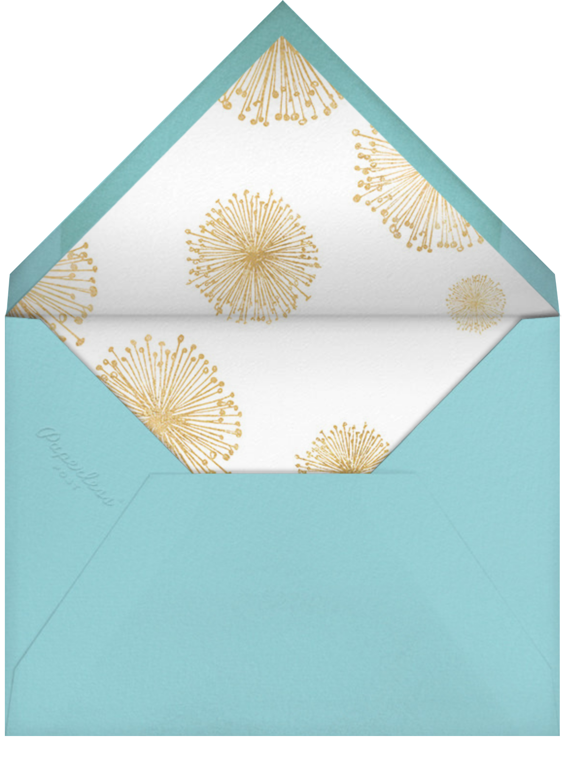 Dandelion (Save the Date) - White/Gold - Paperless Post - Save the date - envelope back