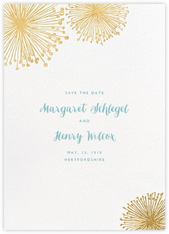 Dandelion (Save the Date) - White/Gold - Paperless Post - Save the dates