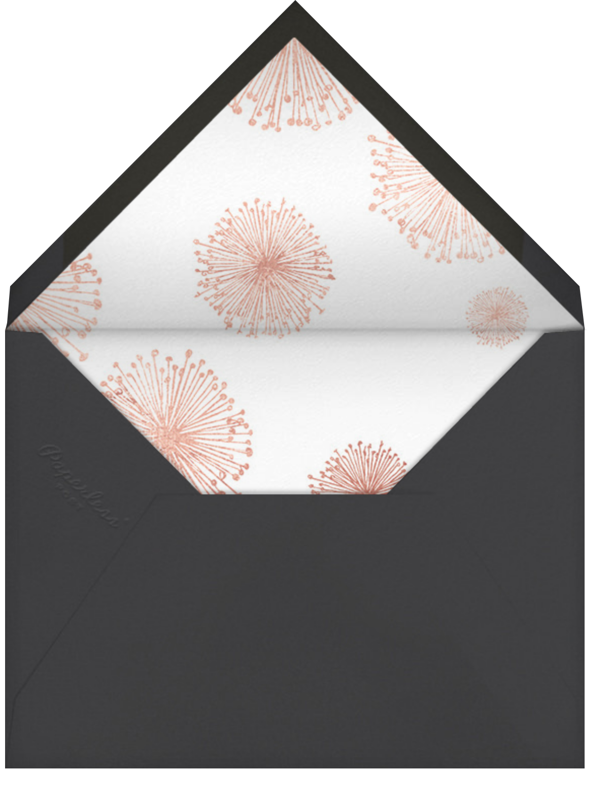 Dandelion (Save the Date) - White/Rose Gold - Paperless Post - Save the date - envelope back