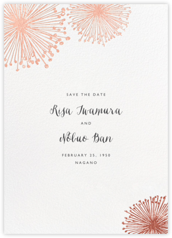 Dandelion (Save the Date) - White/Rose Gold - Paperless Post - Save the dates