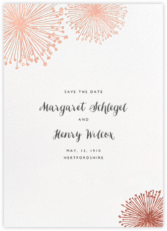 Dandelion (Save the Date) - White/Rose Gold | null