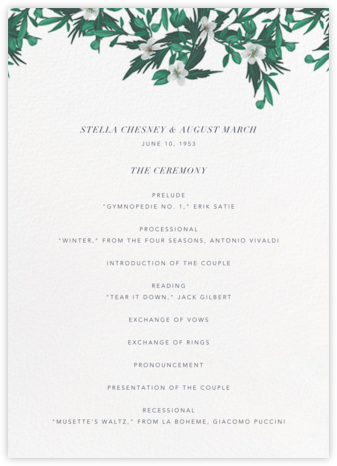 Snowrose Hedge (Program) - White - Paperless Post -