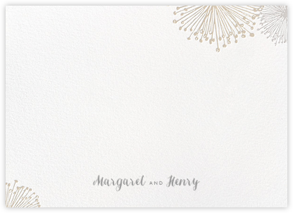 Dandelion (Stationery) - White/Gray - Paperless Post - Stationery
