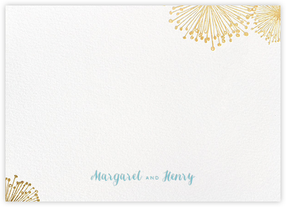 Dandelion (Stationery) - White/Gold - Paperless Post - Stationery