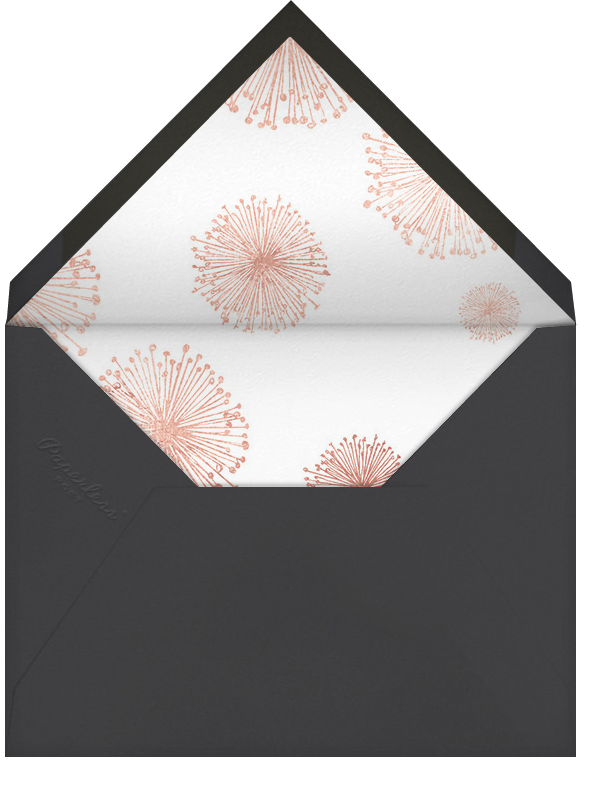 Dandelion (Stationery) - White/Rose Gold - Paperless Post - Personalized stationery - envelope back