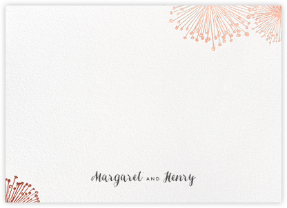 Dandelion (Stationery) - White/Rose Gold - Paperless Post -