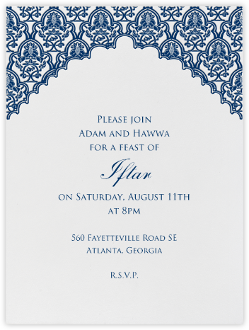 Arabesque (Dark Blue) - Paperless Post - Ramadan and Eid invitations