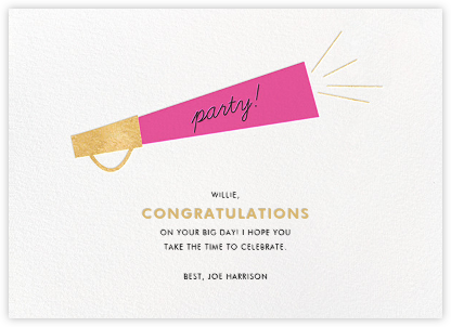 Shout Party - Pink - Paper + Cup - Congratulations cards