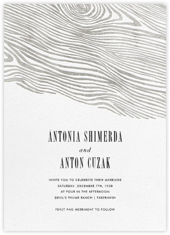 Burlwood II - Silver - Paperless Post - Wedding Invitations