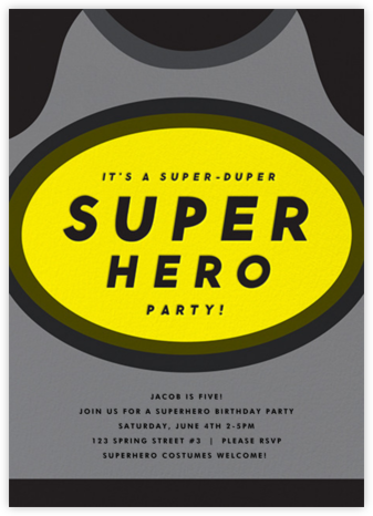 Super Sonar - The Indigo Bunting - Online Kids' Birthday Invitations