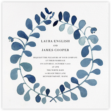 Mirabell (Invitation) - Blue - Linda and Harriett - Wedding invitations