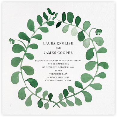 Mirabell (Invitation) - Green - Linda and Harriett - Wedding Invitations