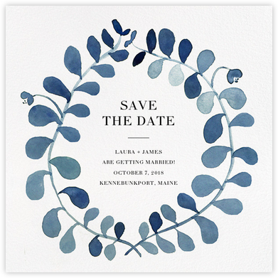 Mirabell (Save the Date) - Blue - Linda and Harriett - Before the invitation cards