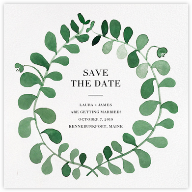 Mirabell (Save the Date) - Green - Linda and Harriett - Save the dates