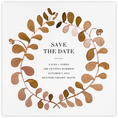 Mirabell (Save the Date) - Sepia - Linda and Harriett - Save the dates
