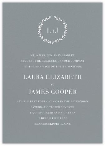 Sonoma (Invitation) - Chinchilla  - Linda and Harriett - Wedding Invitations
