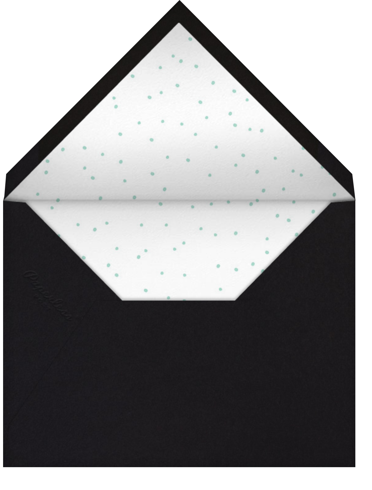 Sonoma (Invitation) - Black - Linda and Harriett - All - envelope back