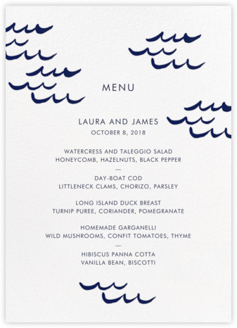 Tisbury (Menu) | tall