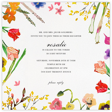 Spring Market (Save the Date) - Happy Menocal - Bat and Bar Mitzvah Invitations