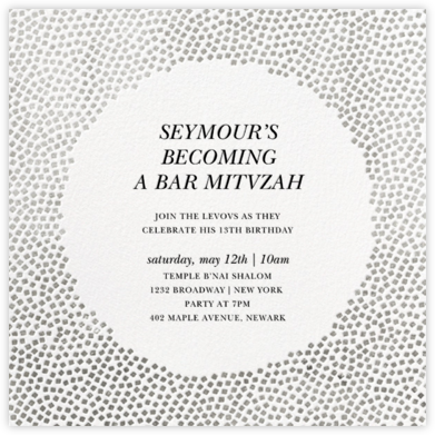 Konfetti - Silver - Kelly Wearstler - Bat and Bar Mitzvah Invitations