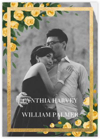 Teablossom (Photo Invitation) - Gold/Yellow - Paperless Post - Wedding Invitations