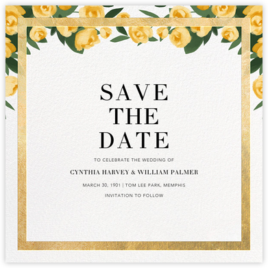 Teablossom (Save the Date) - Gold/Yellow - Paperless Post - Save the dates