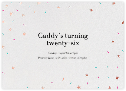 Starfetti - Rose Gold - Paperless Post - Adult Birthday Invitations