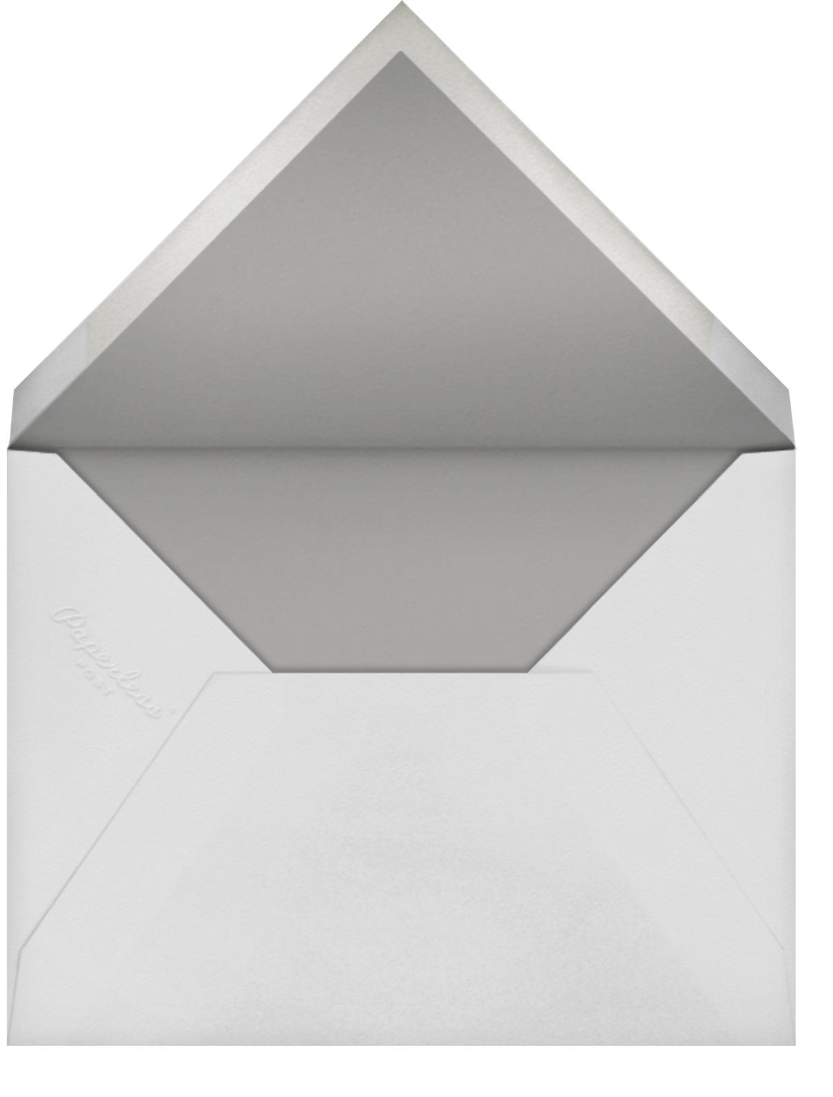 Radiant Swirls (Square) - Rose Gold - Oscar de la Renta - Adult birthday - envelope back