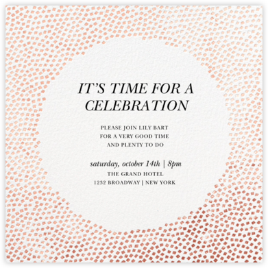 Konfetti - Rose Gold - Kelly Wearstler - Engagement party invitations