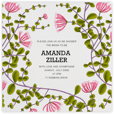 Kuusama - Marimekko - Bridal shower invitations