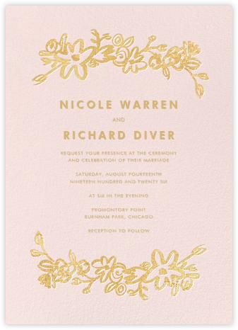 Esplanade (Invitation) - Pink - Paper + Cup - Paper + Cup Wedding