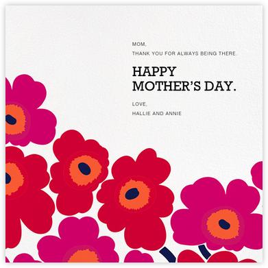 Unikko (Square) - Red - Marimekko - Mother's Day Cards