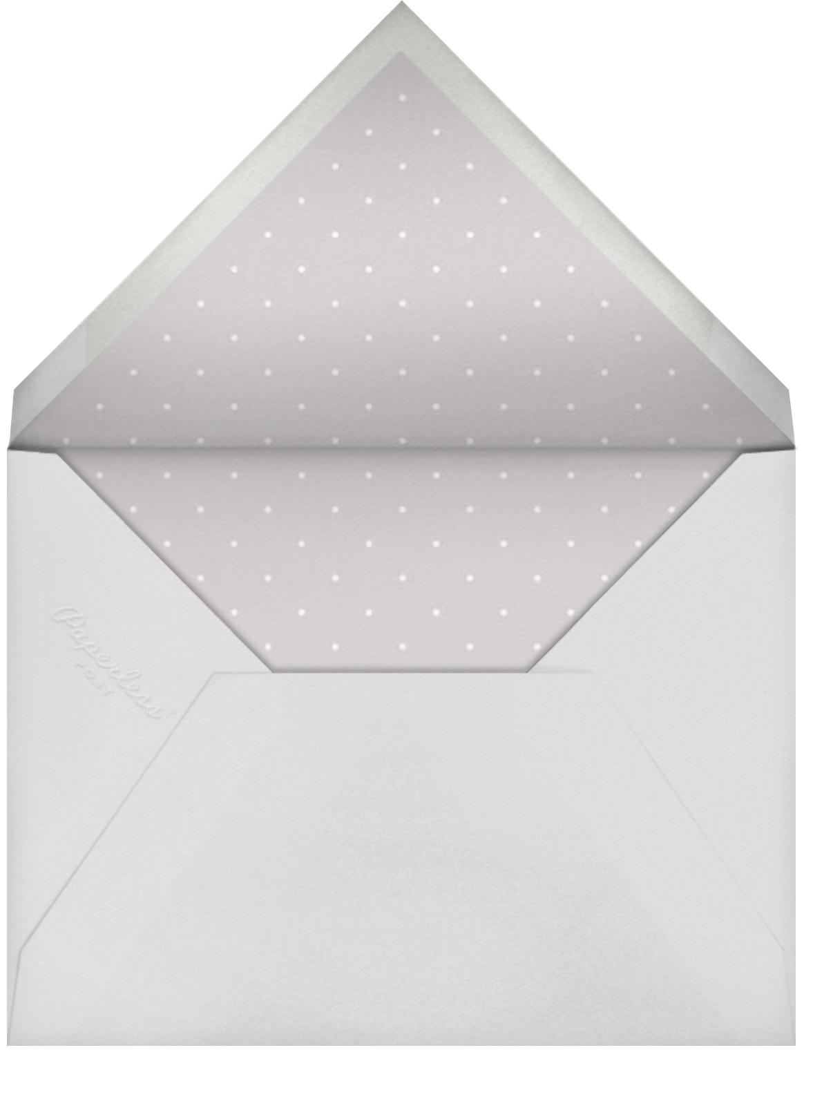 Antique Pink - Paperless Post - Charity and fundraiser  - envelope back