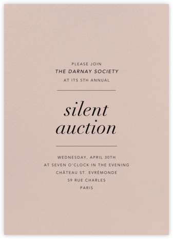 Antique Pink - Paperless Post - Fundraiser Invitations