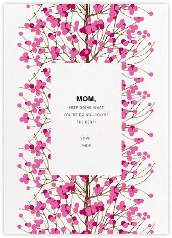 Lumimarja (Greeting) - Pink - Marimekko - Mother's Day Cards